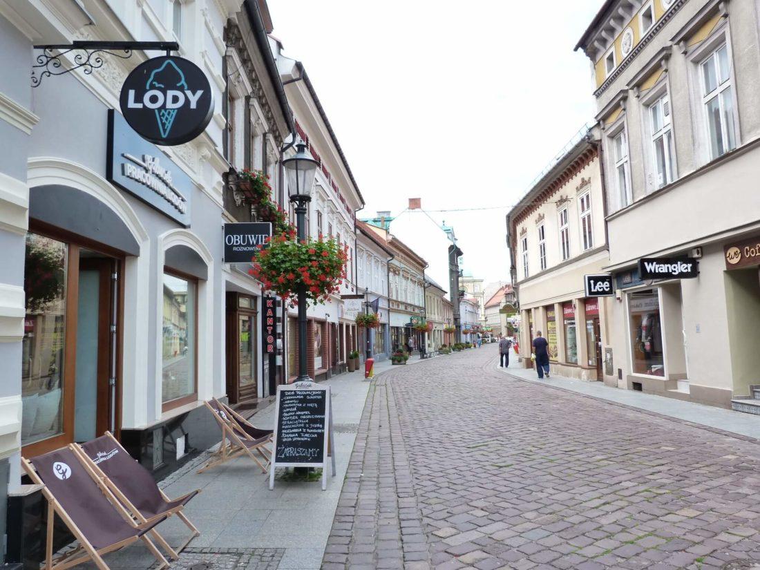 pusta ulica w Bielsko-Biała